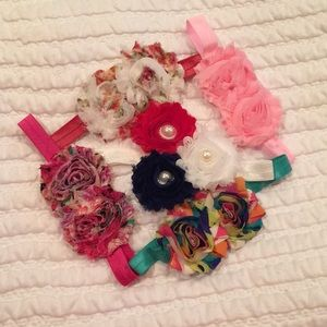 Other - Lot of 6 Floral Shabby Chic Headbands